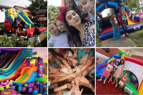 petreceri pentru copii, animatori petreceri copii, inchiriere tobogan gonflabil, personaje pentru petreceri copii
